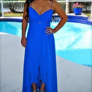 Cache Electric Blue Prom Dress